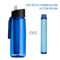 Filter Water Bottle 26 oz  Leak Proof Removes 99.99%Contamin