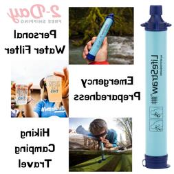 Personal Water Filter for Hiking Camping Travel and Emergenc