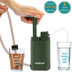 Personal Water Filter Pump Purifier for Camping Hiking Backp