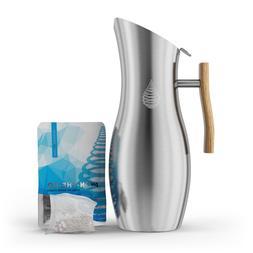 pH VITALITY Stainless Steel Alkaline Water Pitcher - Alkalin