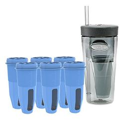 ZeroWater Portable Travel Bottle with Replacement Filters ZR