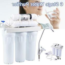 Reverse 6 Stage Drinking Water Filtration System RO Home Wat