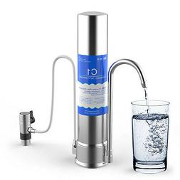 StainlessSteel Countertop Water Purifier Filter Faucet Dispe