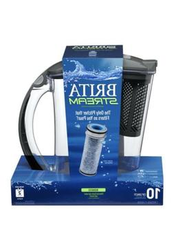 Brita Stream Water Pitcher with Filter 10 Cup Purifier BPA F