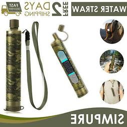 Survival Water Filter Straw Drinking Purifier Filtration Eme