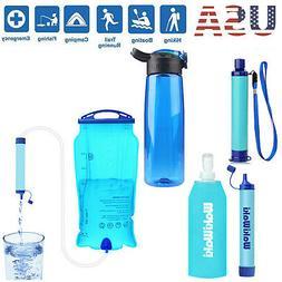 Survival Water Filter Straw Purifier Filtration Bottle Trave