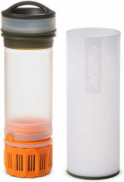 Ultralight Water Purifier + Filter Bottle ORANGE 16 Oz 473 M