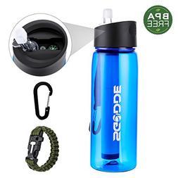 SGODDE Sports Water Bottle with Filter BPA Free Water Purifi