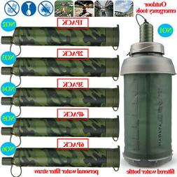 Water Bottle|Portable Water Filter Straw&Purifiers for Campi