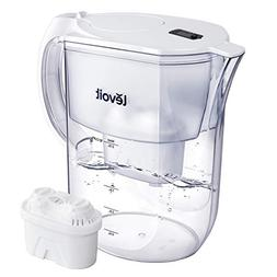 LEVOIT Water Filter Pitcher with 5-Layer Filter, Electronic