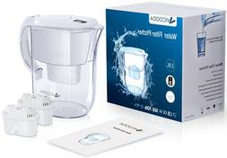 Water Filter Pitcher with 2 Filters 10 Cup Water Purifier Ju
