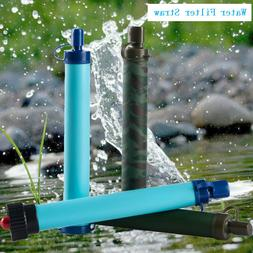 Water Filter Straw Camping Hiking Emergency Outdoor Survival