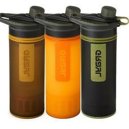 Grayl Water Purifier Geopress 24oz Bottle Black Orange Hikin