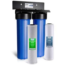 iSpring WGB22B-PB 2Stage Whole House Water System w/ Iron &