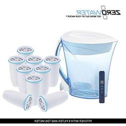 ZeroWater ZD-013D BPA-Free 8 Cup Filtration Pitcher: Include